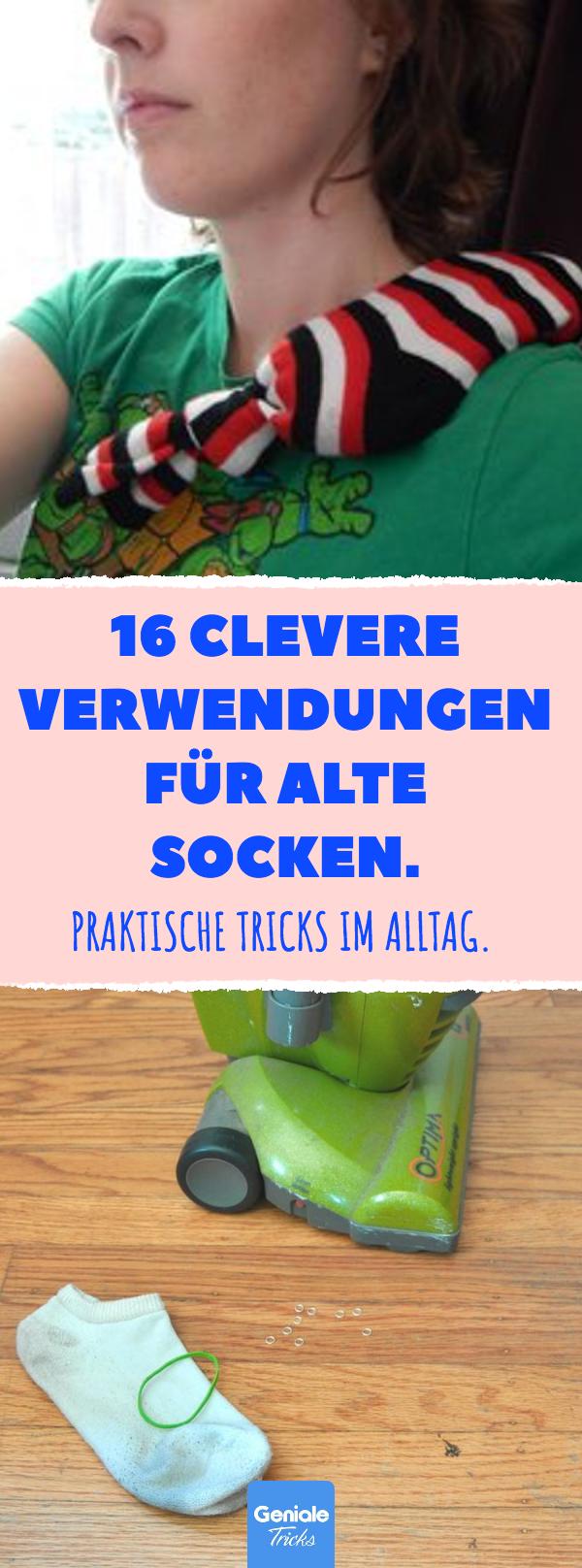 16 clevere Verwendungen für alte Socken.