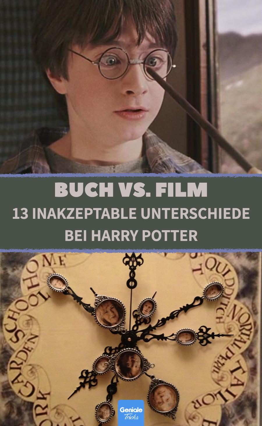 Die Harry-Potter-Saga: 13 Unterschiede zwischen den Büchern und Filmen