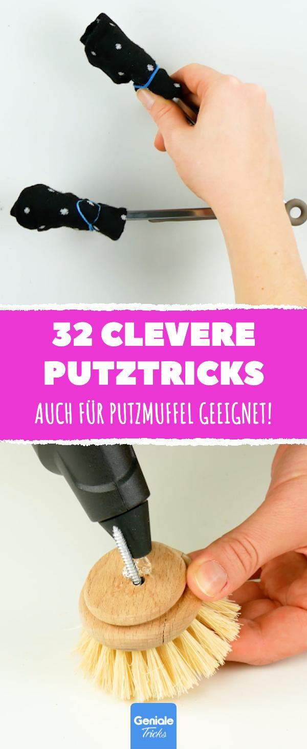 Putzen und Aufräumen für Faule | 32 clevere Haushaltstricks