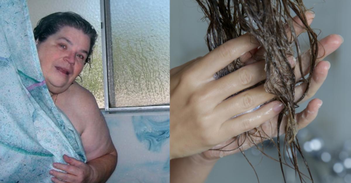 abends duschen