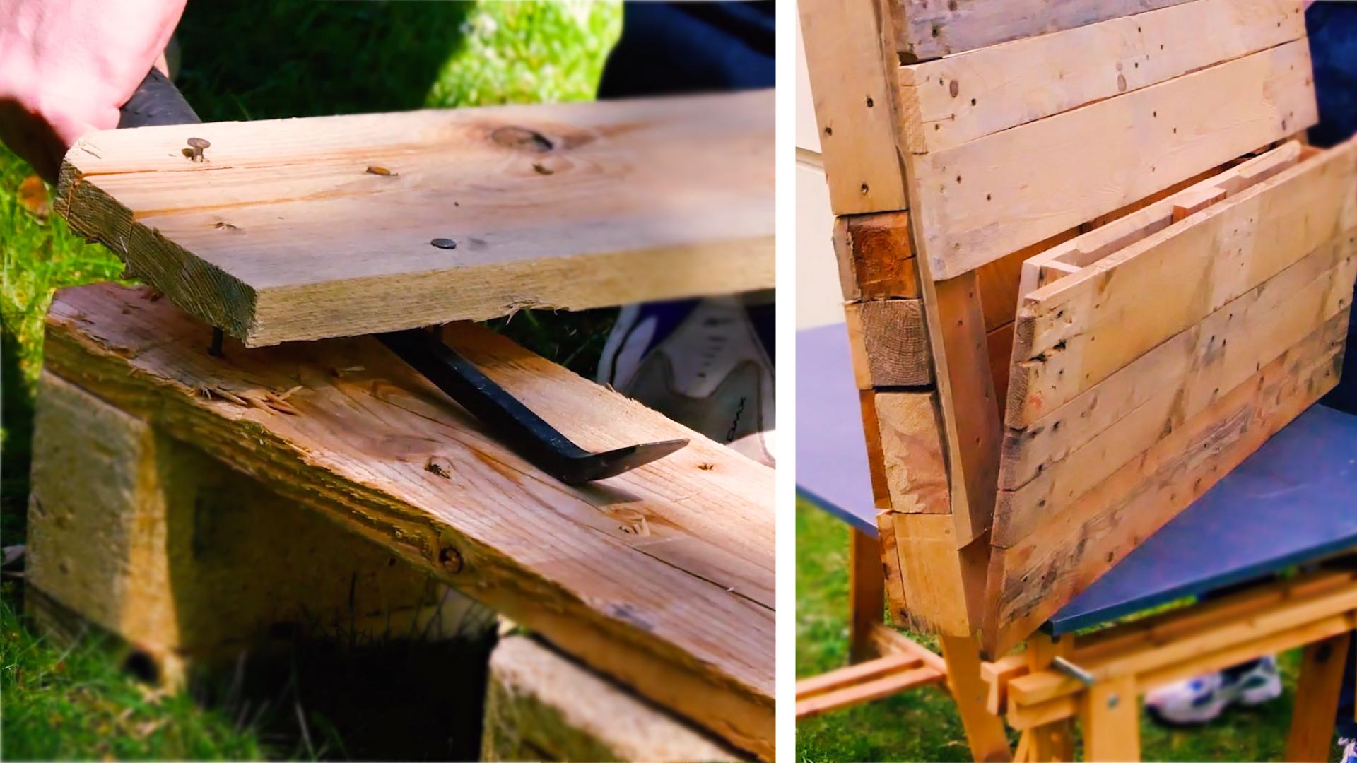 Gartenbar selber bauen mit Europaletten   DIY Gartenmöbel